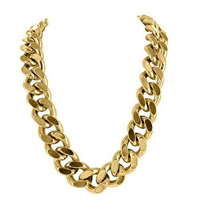 Mens Thick Heavy Chain Necklace With 14k Yellow Gold Finish For Men Sale Uniq