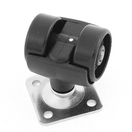 Home Chair Dual Wheel Metal Square Top Plate Mounted Swivel Caster 2 Pcs - image 1 of 2