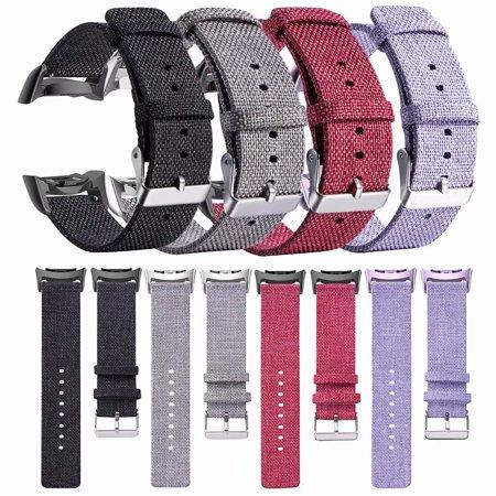 18mm Universal Nylon Canvas Fabric Watch Band Strap for Samsung Gear SM-R360 SM-R350 SM-R365 Smart Bracelet Black