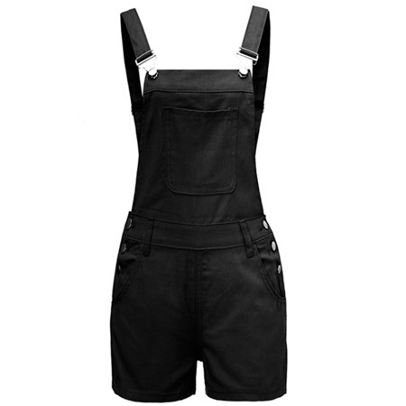 JDinms Women Denim Bib Pockets Short Overalls](White Overalls Halloween)