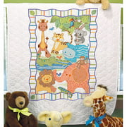 "Dimensions Baby Hugs ""Mod Zoo"" Quilt Stamped Cross Stitch Kit, 34"" x 43"""