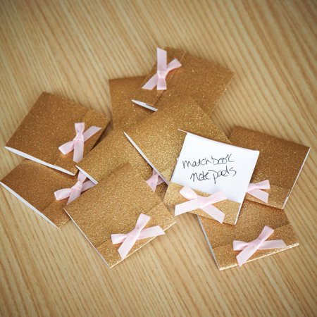 Custom Matchbook (Party Favors for Women Matchbook Notebook. Ships in 1-3 Business Days. Mini Note Pad 10 CT.)