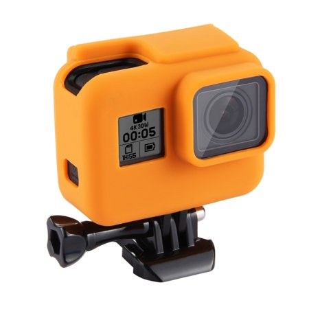 AMZER Shock-proof Silicone Protective Case with Lens Cover for GoPro HERO - 2018 /7 Black /6 /5 with