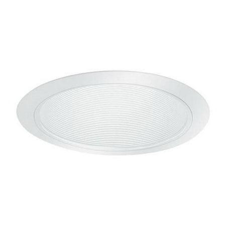 Lightolier 1105WH 6-3/4 Inch Down Light Step Reflector Baffle Trim Round Matte White Lytecaster
