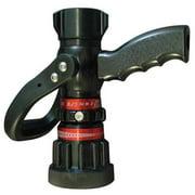 MOON AMERICAN 512P-10214 Fire Hose Nozzle,1 In.,Black