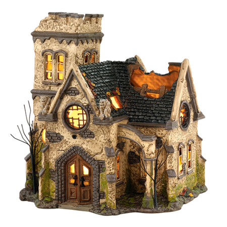 Department 56 Halloween Village 4036592 The Haunted Church NIB