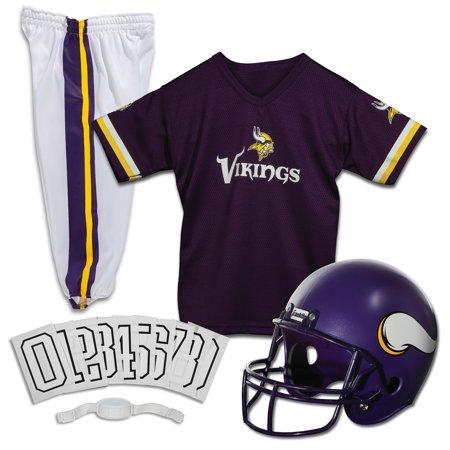 Franklin Sports NFL Minnesota Vikings Youth Licensed Deluxe Uniform Set, Large