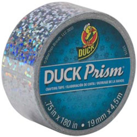 Duck Prism Tape Mini Roll, Silver