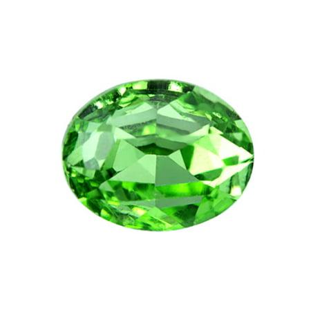 14x10mm Emerald (6pcs Embellishment Rhinestone, Emerald Oval Foil Back Crystal 14x10mm)