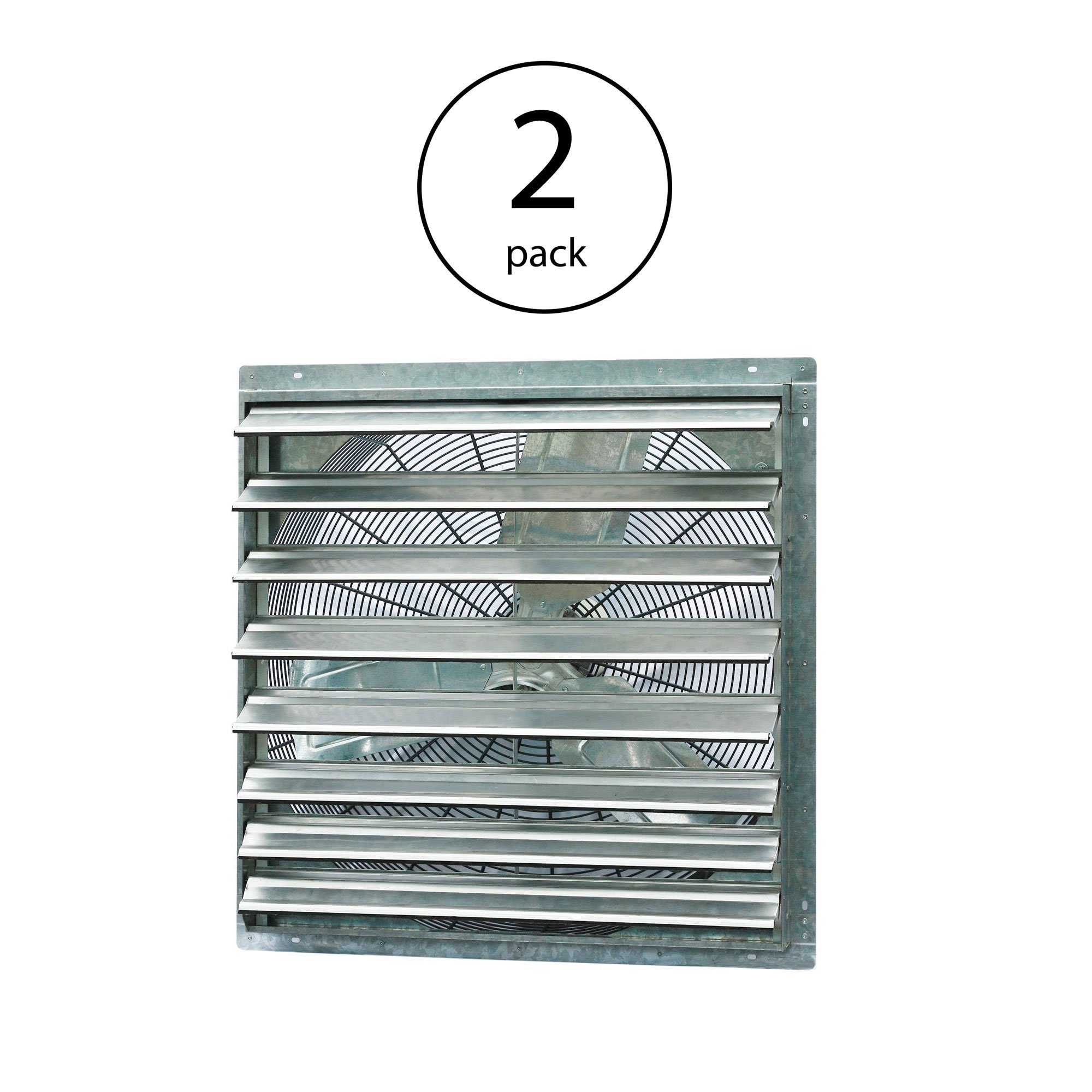 "iLiving 30"" Single Speed Shutter Wall Mountable Indoor Exhaust Fan (2 Pack)"