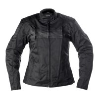 Women's Fulmer Stealth Jacket Ladies Motorcycle Riding Coat Polyester/Leather