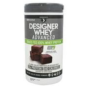 Designer Protein - Designer Whey Advanced Grass Fed 100% Whey Protein Chocolate Fudge - 1.85 lb.