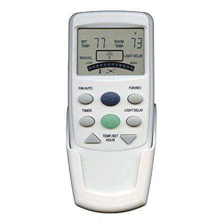 anderic replacement fan-9t with reverse key thermostatic remote control for hampton bay ceiling fans - fan9t (fcc id: l3hfan9t, pn: fan9tr, works receiver fan10r, fan-10r)](hampton bay lcd display thermostatic remote control)