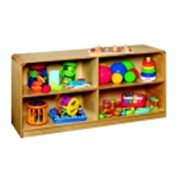 Korners For Kids Mobile Low Storage Unit, 4 Compartments