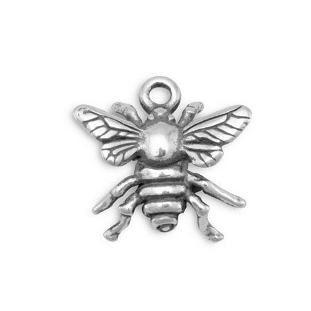 Bumblebee Honey Bee Charm Sterling Silver - Bee Charms