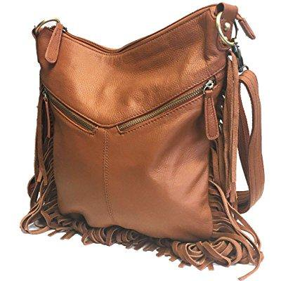 b390a17c2 ... leather locking concealed carry purse, fringe collection, shoulder or  cross-body, ccw