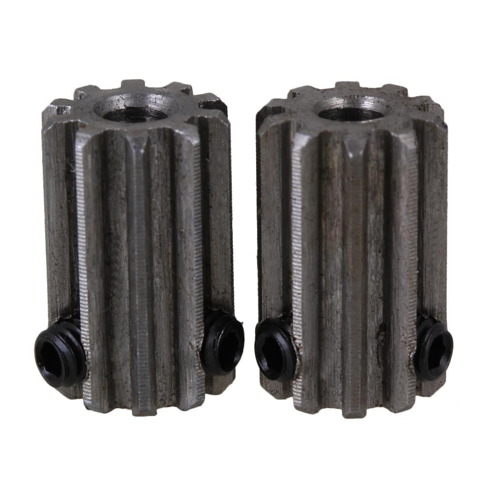 BQLZR 4mm Hole Diameter Silver 10 Teeth Motor Metal 45 Steel Gear Wheel 1 Modulus Top... by