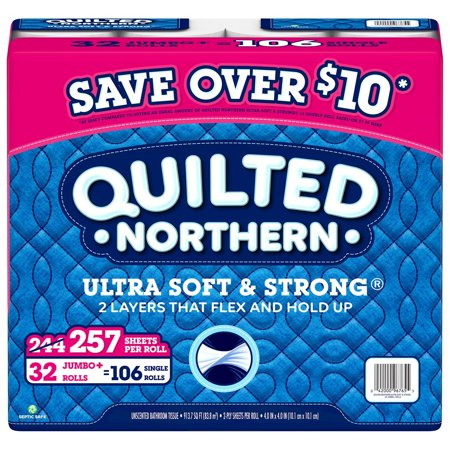 2-ply bath tissue, Toilet Paper By Quilted Northern (32 rolls, 257 sheets/roll)