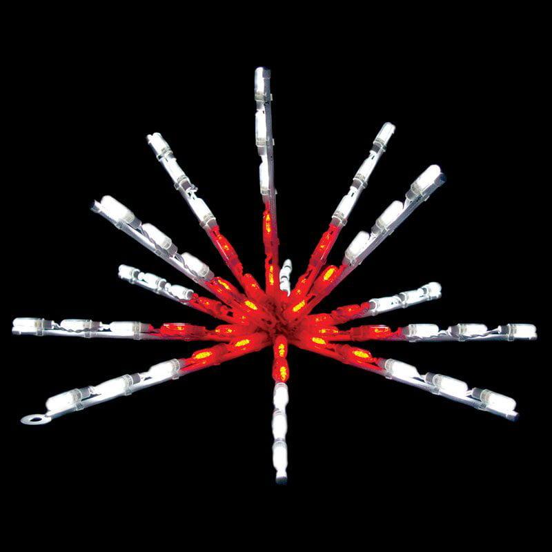 Brite Ideas 24-Inch Red ; White Flat LED Starburst - 65 B...