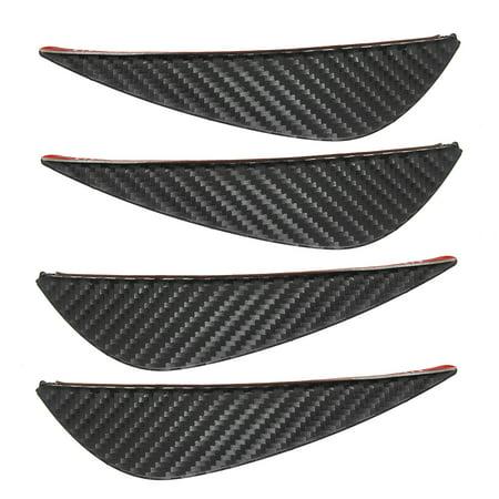 Set of 4 Durable Carbon Fiber Style Body Spoiler Front Bumper Splitter Trim Tip Kit - CLEARANCE