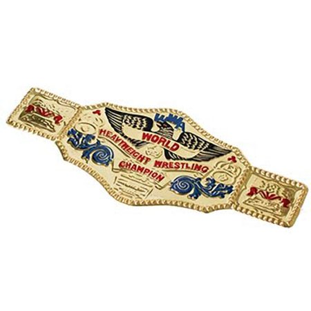 World Wrestling Championship Belt Costume Accessory WWF WWE Wrestler Gold Prop](Wrestling Halloween)