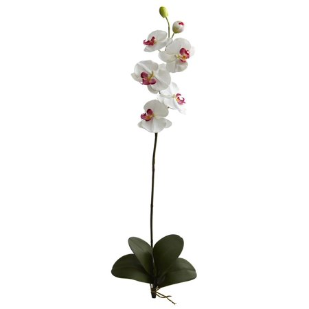 Large Orchid Phalaenopsis Artificial Flower in White - Set of 3 ()
