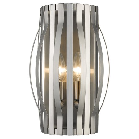 Z Lite Moundou 2 Light Wall Sconce Brushed Nickel