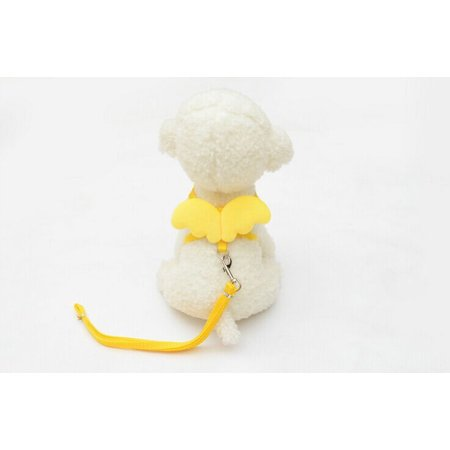 Outtop Cute Angel Pet Dog Leads and Collars Set for Small Pet Designer Wing Adjustable ()