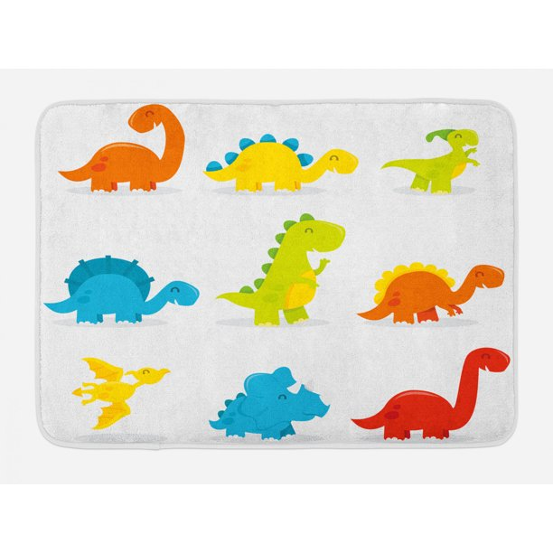 Dinosaur Bath Mat Cute And Funny