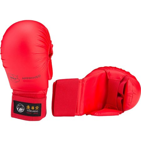 Wkf Karate Mitt - Tokaido Karate WKF Mitt with Thumb, Red