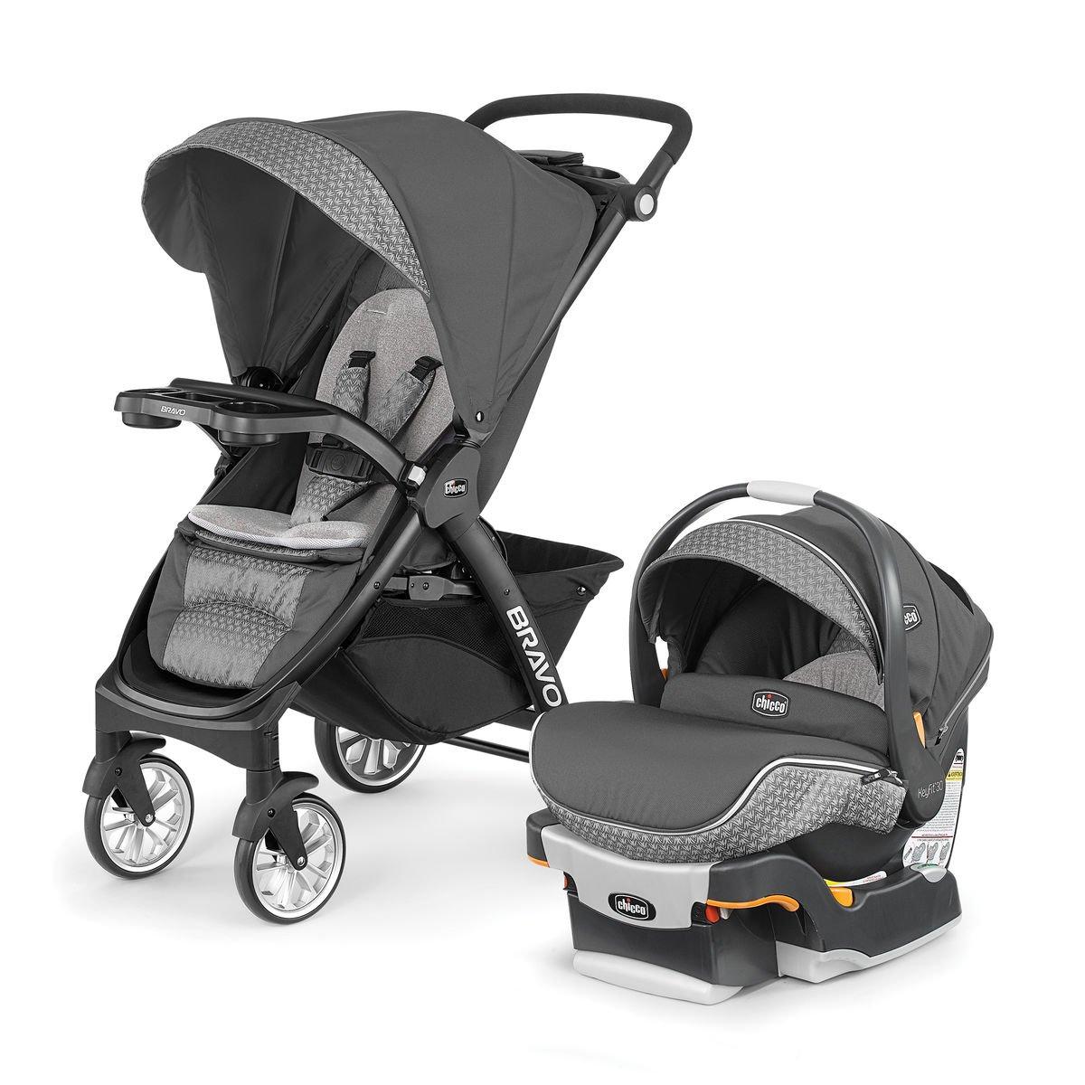 Chicco Bravo LE Stroller w/ KeyFit 30 Zip Infant Car Seat...