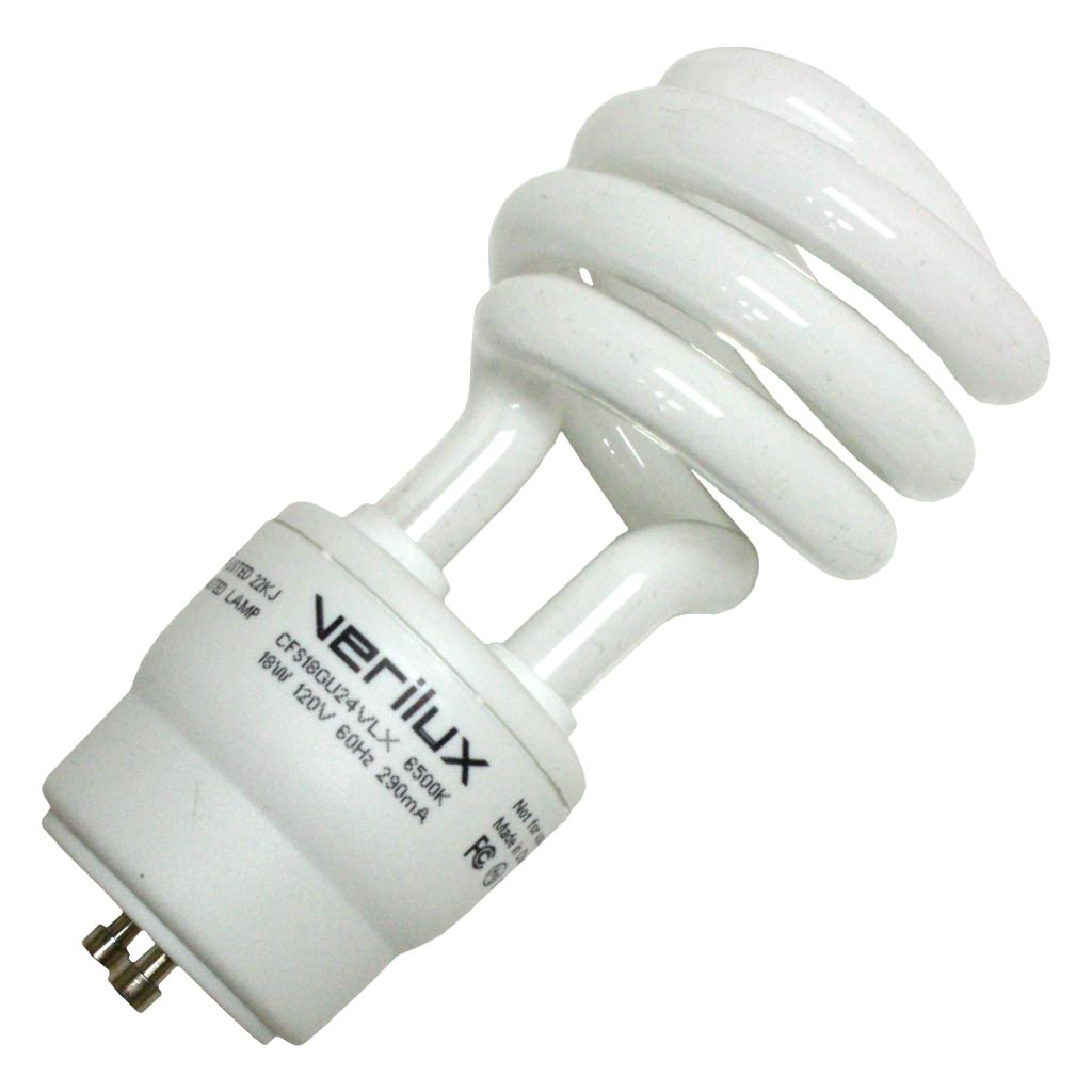 Verilux 36916 CFS18GU24VLX Compact Fluorescent Daylight Full Spectrum Light Bulb by Satco/Nuvo