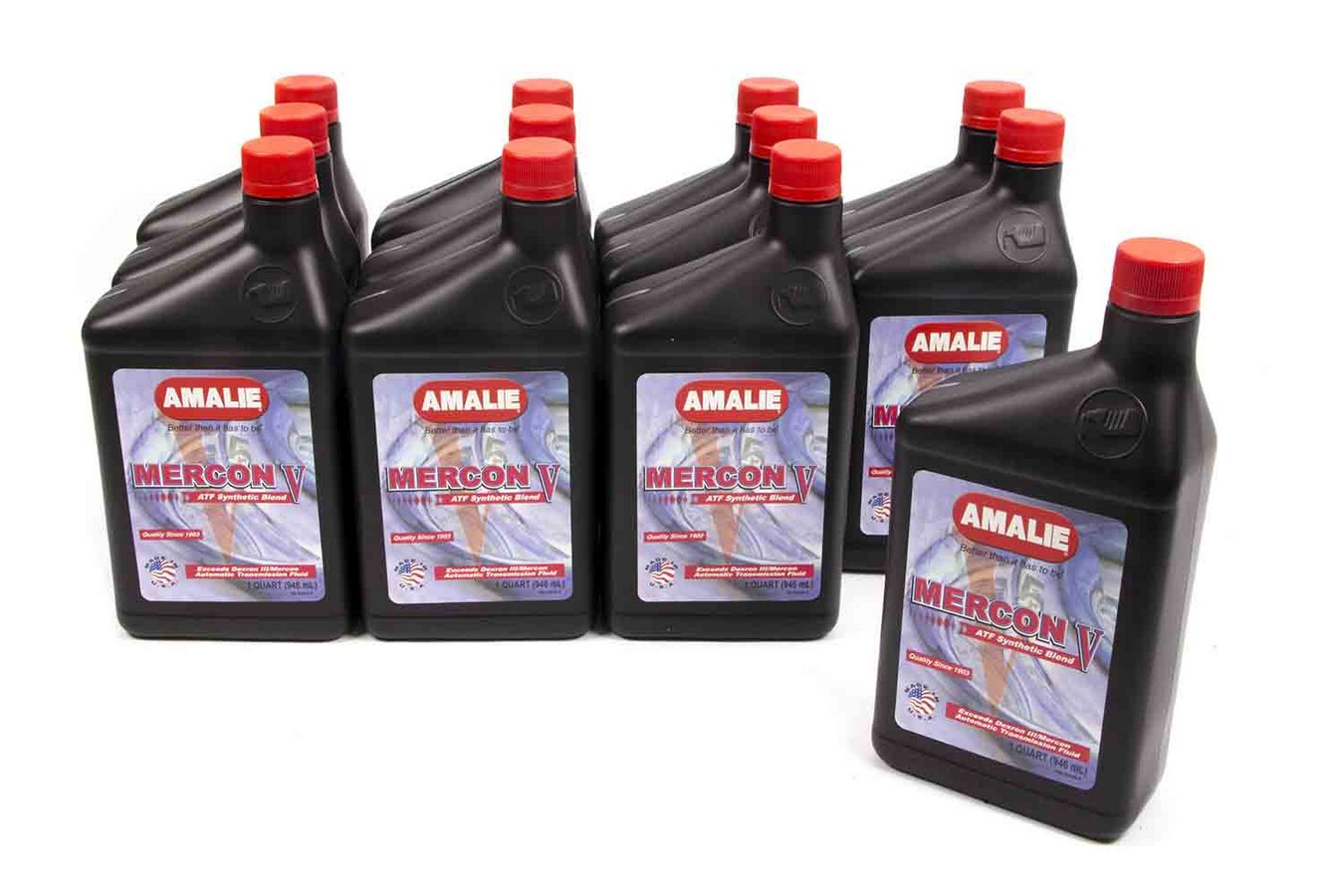 Amalie Mercon V ATF Transmission Fluid 1 qt Case of 12 P N 160-62856-56 by Amalie