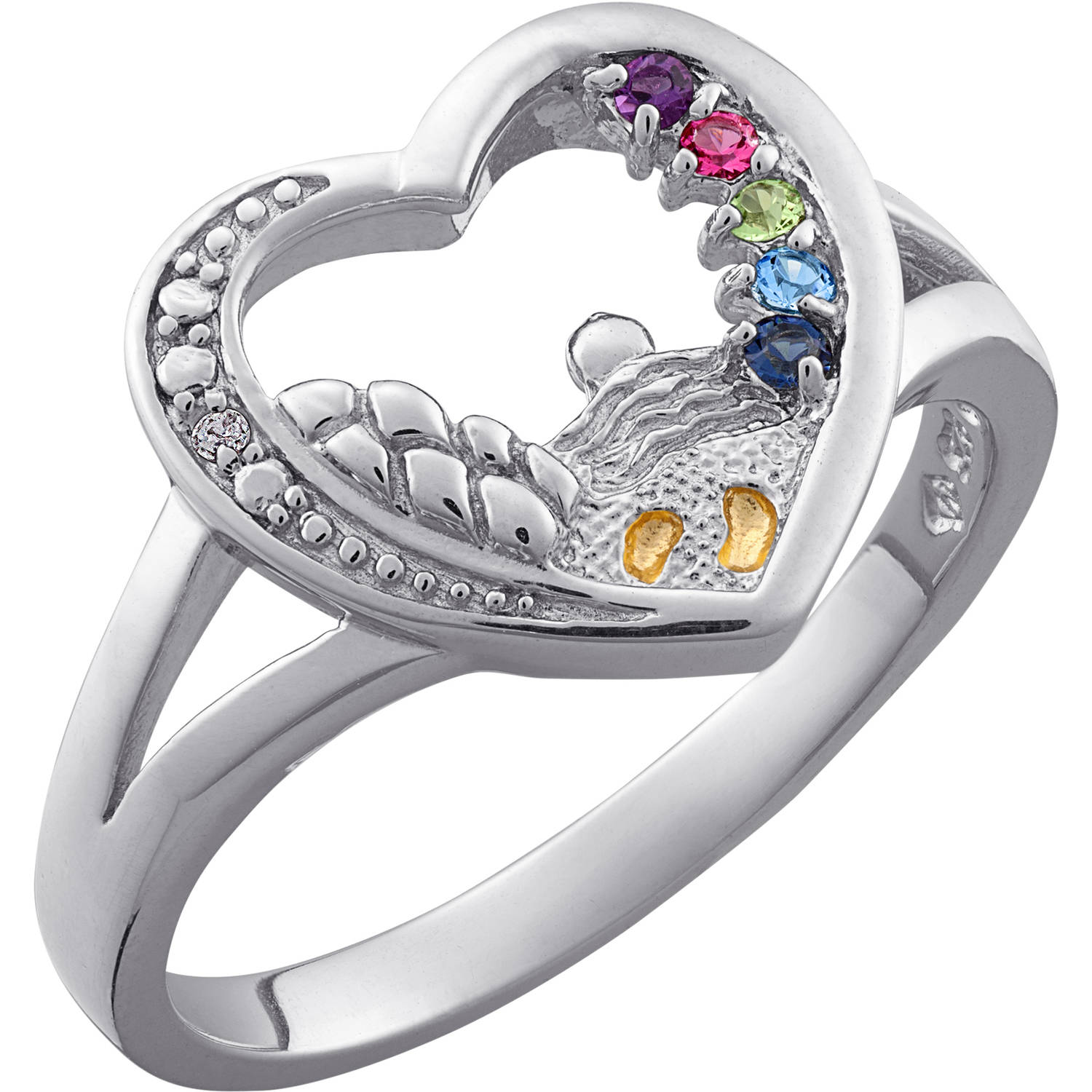 com moms name for opersonalized rings childrens baby footprint ring