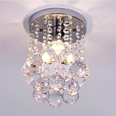 Mini Modern Crystal Chandeliers Flush Mount Rain Drop Pendant Ceiling Light for Girls Room,Bedroom(6.29Inch) Modern Crystal Flush