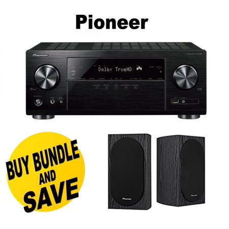 Pioneer VSX-831 5.2-Channel AV Receiver with Built-In Bluetooth and Wi-Fi + Pioneer SP-BS22A-LR Dolby Atmos... by