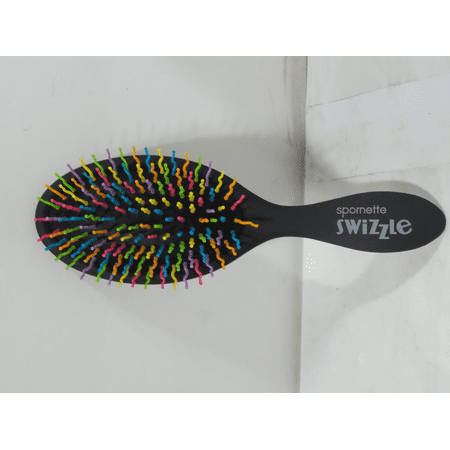 Spornette Swizzle Cushioned Oval Shape Detangling Hair Brush (Black) Spornette Ionic Brush