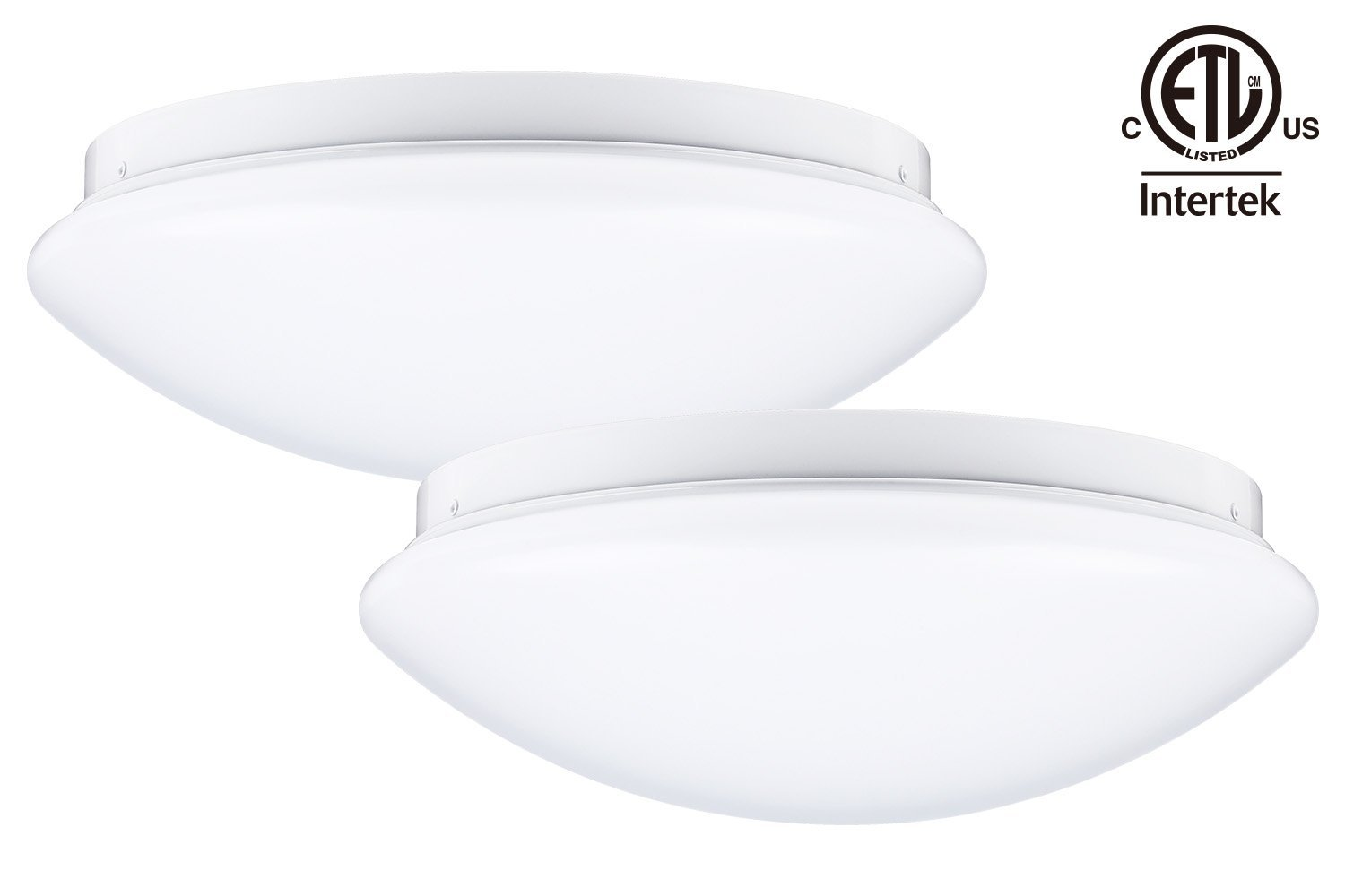 12-Inch LED Flush Mount Ceiling Light, 16W (86W Fluorescent Equivalent) Dimmable, 3000K Warm White, 120V, ETL-listed... by