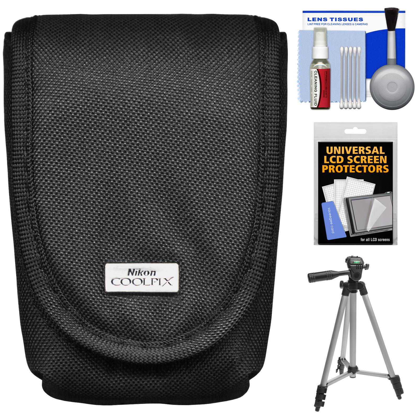 Nikon Coolpix 5879 Digital Camera Case with Tripod + Accessory Kit for AW110, AW120, P340, S01, S02, S32, S3500, S5200, S5300, S6500, S6800, S810C, S9500, S9700