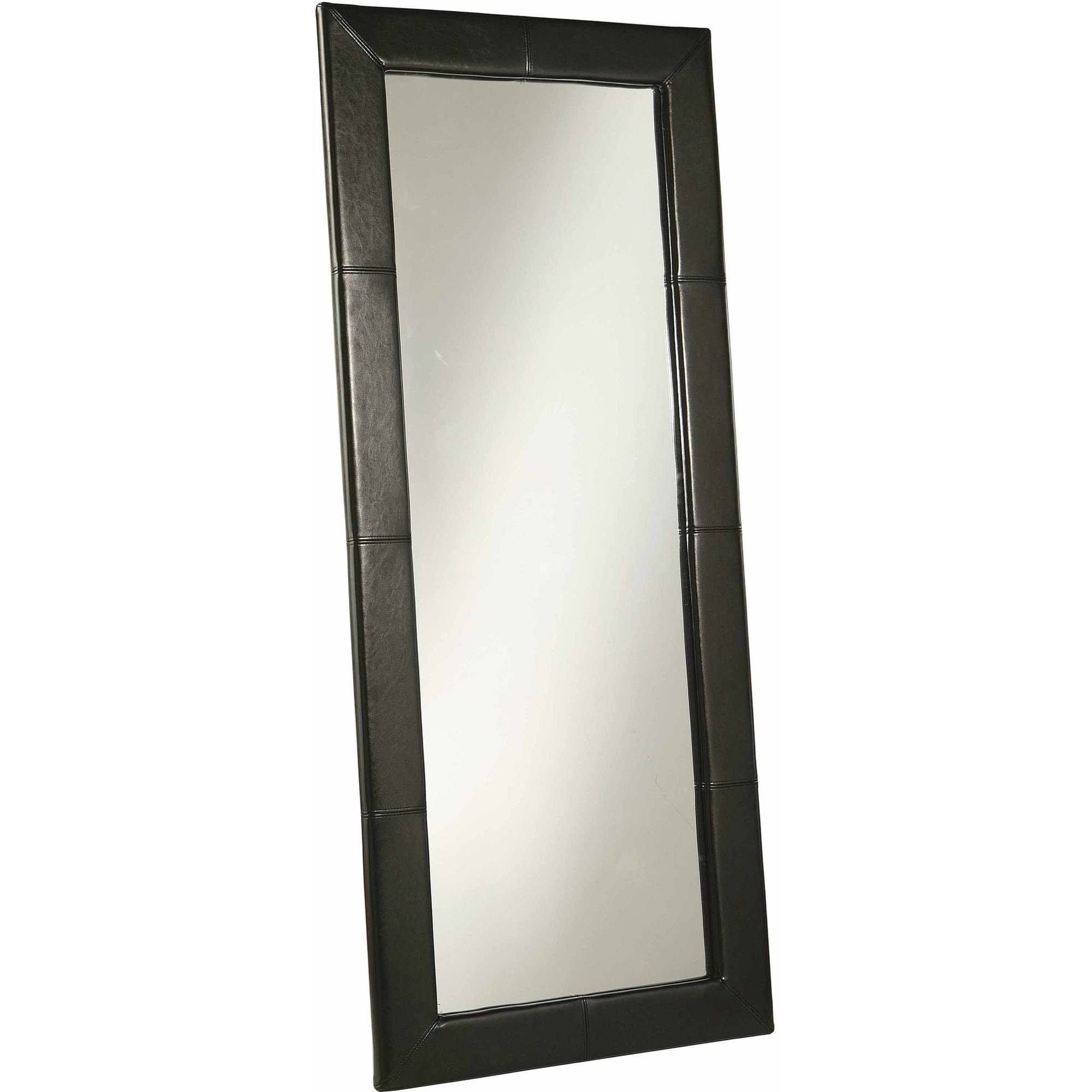 Devon and Claire Torgan Leather Floor Mirror by