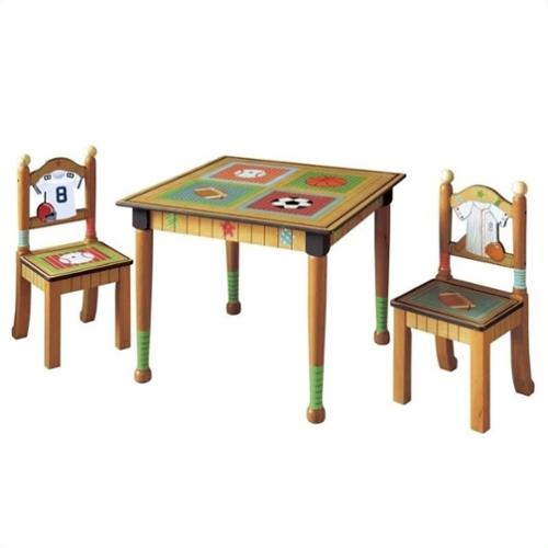 Fantasy Fields Liittle Sports Fan Table and Set of 2 Chairs