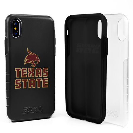 Texas State Bobcats DP1 Hybrid Case for iPhone X / Xs - Clear with Black