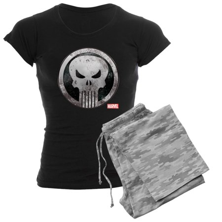 0082fea5 CafePress - Punisher Grunge Icon - Women's Dark Pajamas - Walmart.com