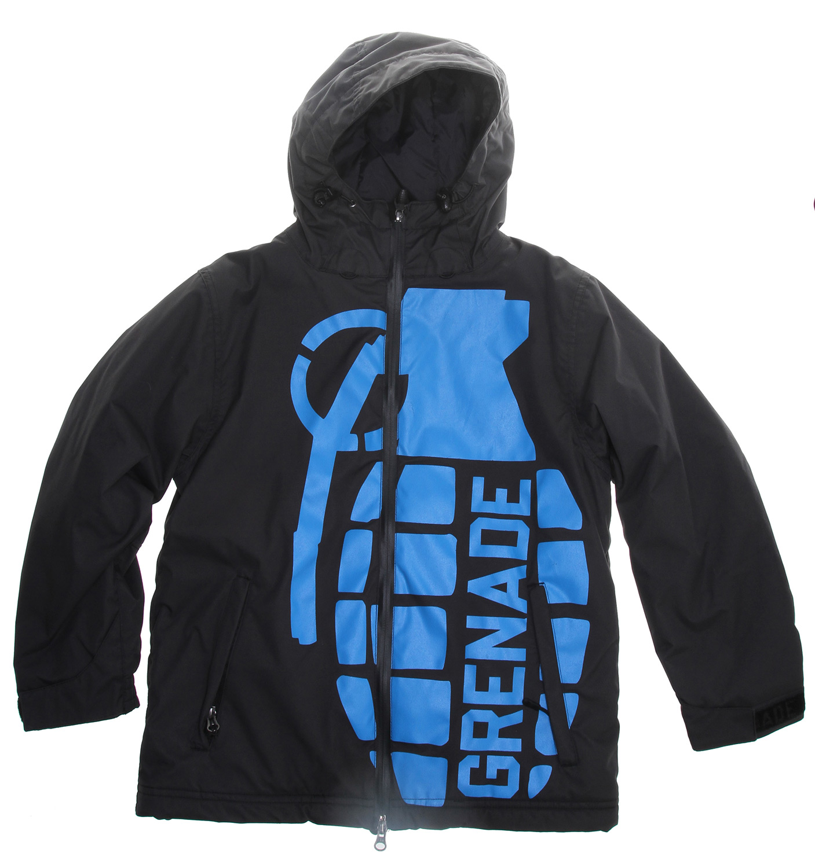 Grenade Exploiter Snowboard Jacket Snowboard Jacket Black Youth