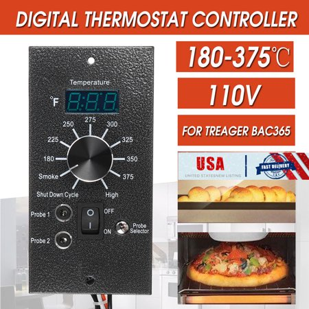 4in1 Smart Thermostat Control Board Probe with TR-01 Heat Bar For TRAEGER BAC365 120V For Home 8 Cook Temperature -
