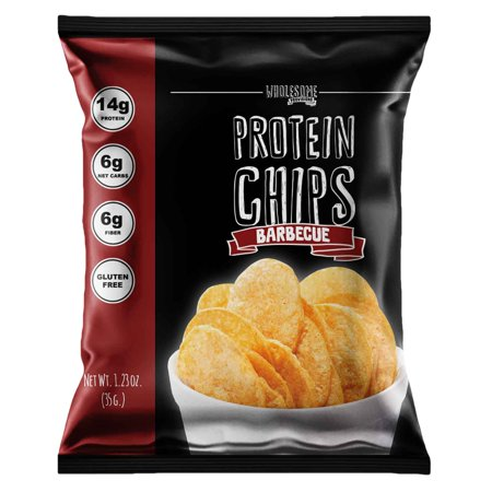 - Protein Chips, 14g Protein, 3g-4g Net Carbs, Gluten Free, Keto Snacks, Low Carb Snacks, Protein Crisps, Keto-Friendly, Made in USA (Barbecue, 1 Pack)
