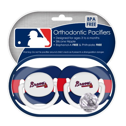 Baby Fanatic MLB Team Pacifiers, 2 - Pack Multi - Colored