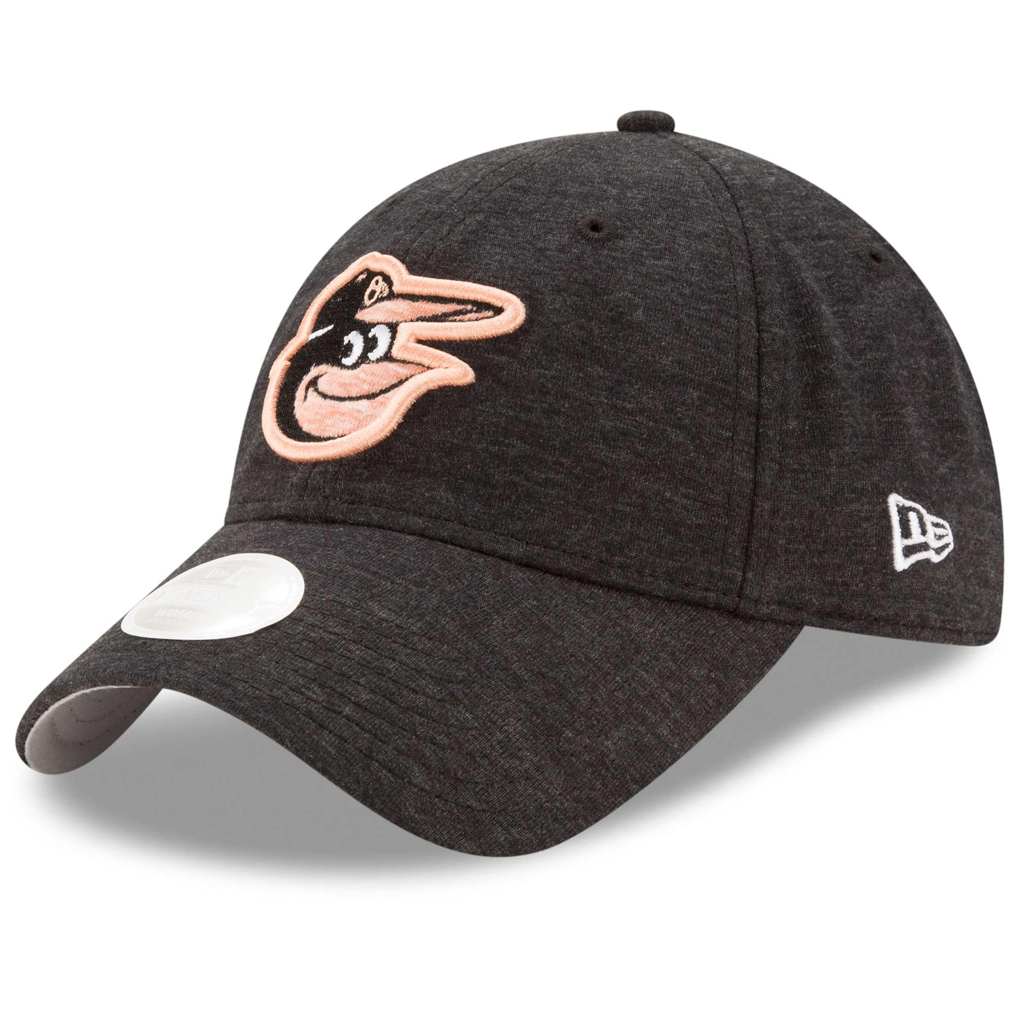 Baltimore Orioles New Era Women's Team Multi Tone 9TWENTY Adjustable Hat - Black - OSFA