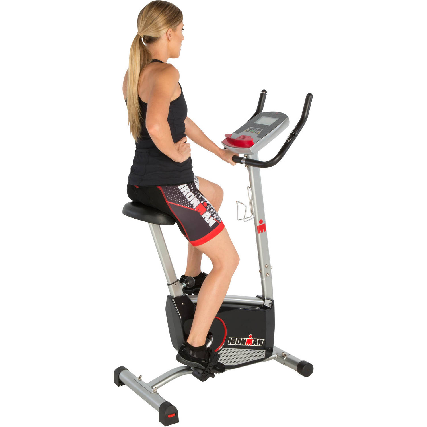 IRONMAN H-Class 210 Indoor Upright Exercise Bike with 21 Computer Workout Programs