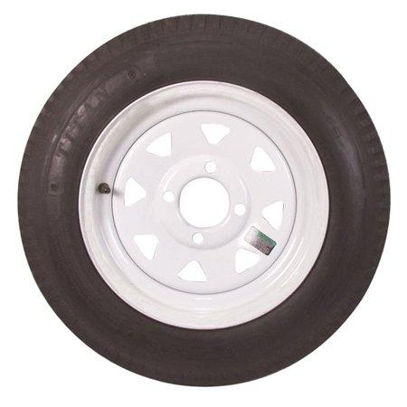 30820 5.30 x 12 Economy Bias Tire & Wheel - White Spoke